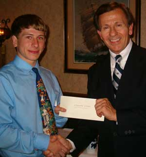 Alexander Vickers, 2010 Ray Willett Scholarship winner